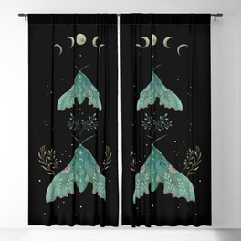 Luna and Moth - Midnight Black Blackout Curtain
