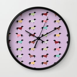 Dachshund - Purple Sweaters #251 Wall Clock