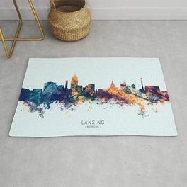 Lansing Michigan Skyline Rug