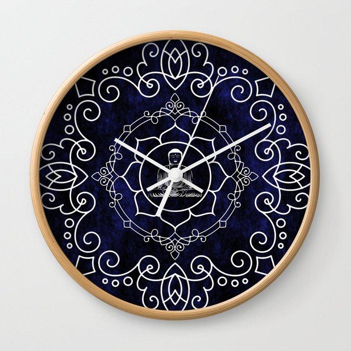 Buddha Lotus Mandala Wall Clock