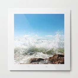 Waves in the Shallows Metal Print