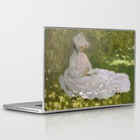 monet Laptop & iPad Skins featuring Springtime by Claude Monet by Palazzo Art Gallery