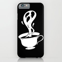 Ghost in a Cup on Black iPhone Case