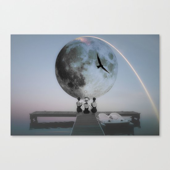 The moon will rise Canvas Print