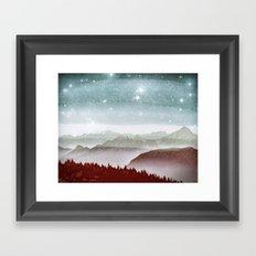 Last snowstorm Framed Art Print