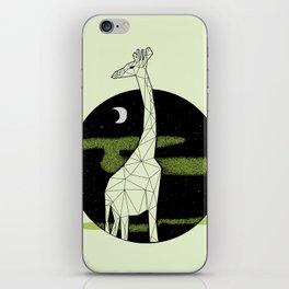 Giraffe in geometric style iPhone Skin