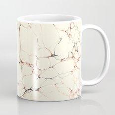 Marble Cream Blue / Orange Square # 2 Mug