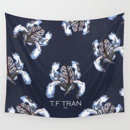 T.F TRAN BLUE SNAKE IRIS Wall Tapestry