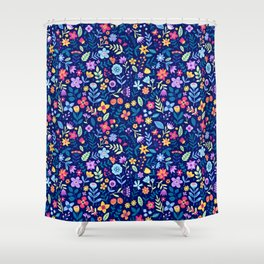 """Cute Floral pattern in the small flower. """"Ditsy print"""". Vintage. Shower Curtain"""