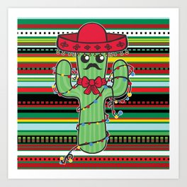 Christmas Nopal Art Print