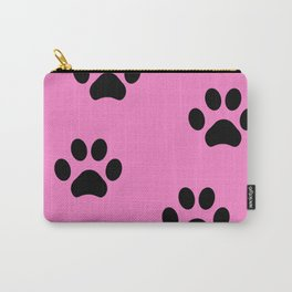 Pink Pawprints Carry-All Pouch
