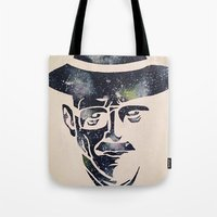 walter white Tote Bags featuring Walter by Kayleigh Kirkpatrick