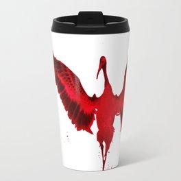 Crimson Crane Travel Mug