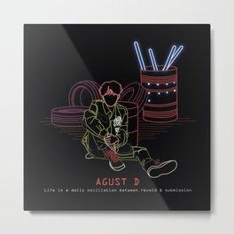 AGUST D LINE ART Metal Print