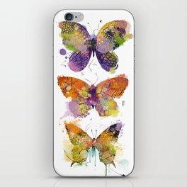 3 farfalle iPhone Skin