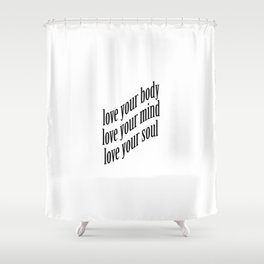 Self-Love Shower Curtain