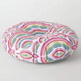 RAINBOWS ABOUND Floor Pillow