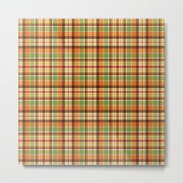 Autumn Plaid Pattern Metal Print