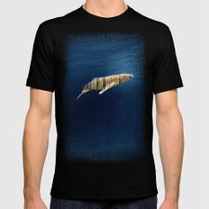 A Whale Dreams of the Forest Mens Fitted Tee Black MEDIUM