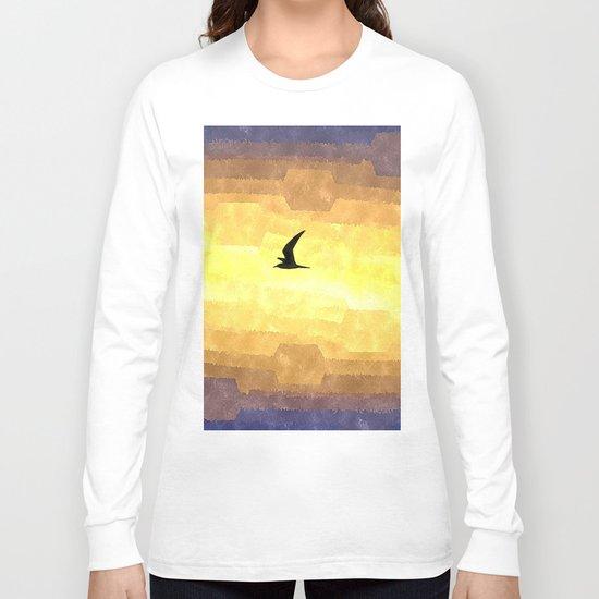 Abstract Seagull Flight Long Sleeve T-shirt