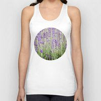 lavender Tank Tops featuring Lavender by A Wandering Soul