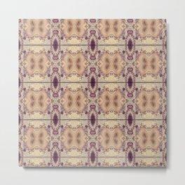 Vintage Inspired Pattern Design Metal Print