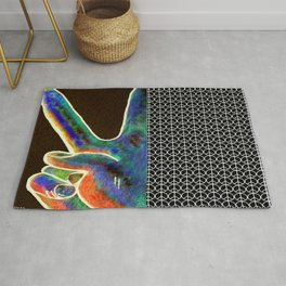 Peace Sign and Symbol Rug
