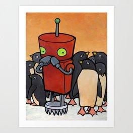 Robot - You Make Me Laugh Art Print