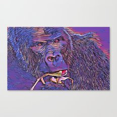 Feeding Gorilla Canvas Print