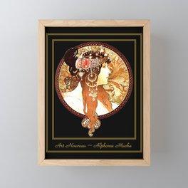 Art Nouveau Cameo No. 1 Framed Mini Art Print