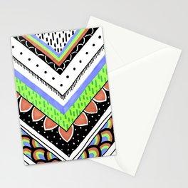 Neon Chevron Stationery Cards
