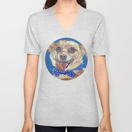 The Chihuahua A Day at Play Unisex V-Neck