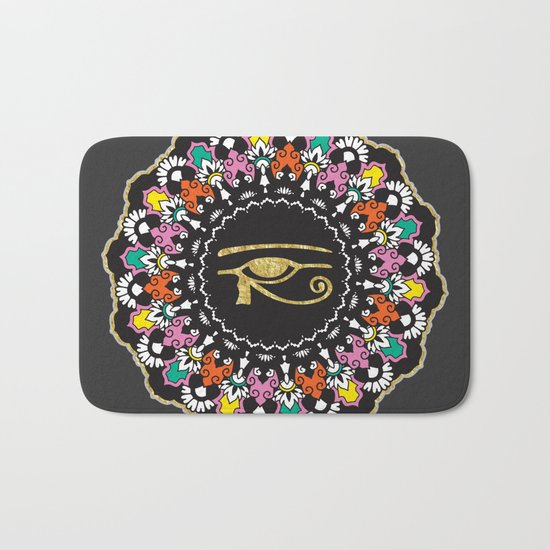 Eye of Horus Mandala Bath Mat