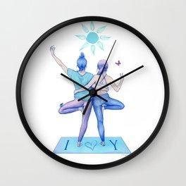 Yogi Love cold colours Wall Clock