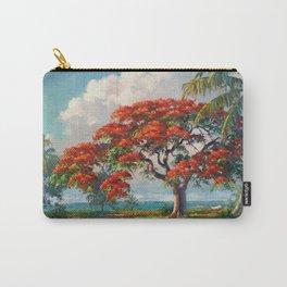 Royal Poinciana Tropical Florida Keys Landscape by A.E. Backus Carry-All Pouch