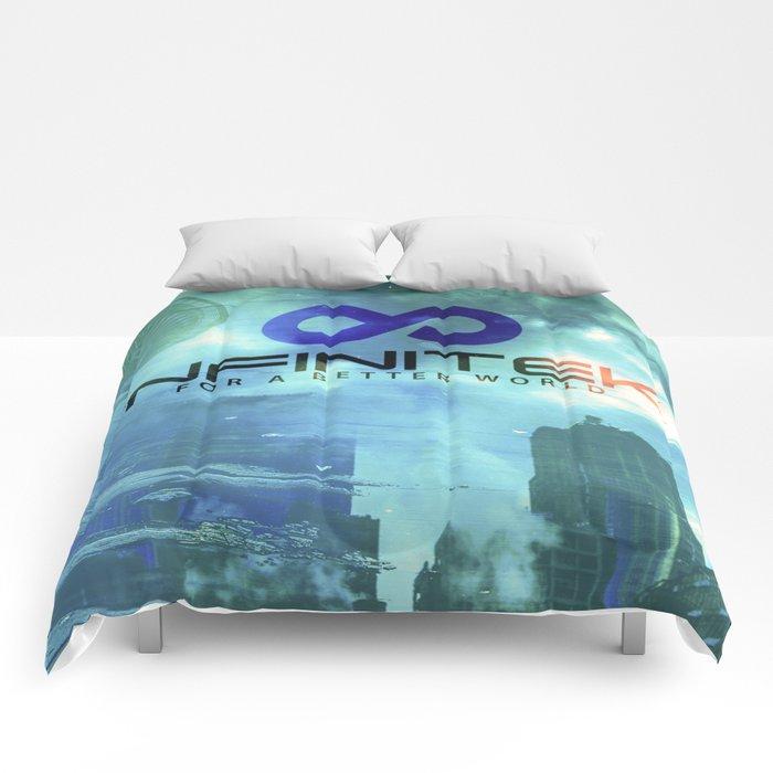 Space Needle - Infinitek Headquarters Seattle Comforters