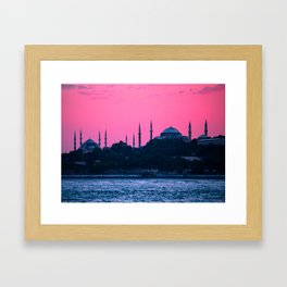 Istanbul Sultanahmed and Ayasofya Mosques Framed Art Print