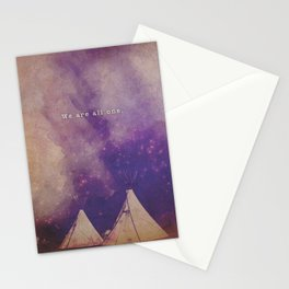 We Are All One   Boho Teepees Stationery Cards