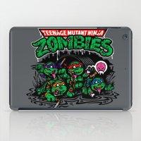 teenage mutant ninja turtles iPad Cases featuring Teenage Mutant Ninja Zombies by harebrained