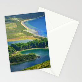 Colorful lake Stationery Cards