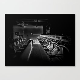 Darkside of the Laundry-mat Canvas Print