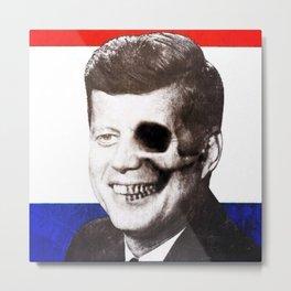JFK SKULL PORTRAIT Metal Print