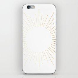 Sunburst Gold Copper Bronze on White iPhone Skin
