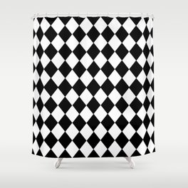 HARLEQUIN BLACK AND WHITE PATTERN #2 Shower Curtain