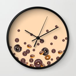 LOVE MY CHOCOLATE  DONUTS Wall Clock