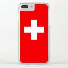 Flag of Switzerland 2x3 scale Clear iPhone Case