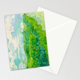 Field with Green Wheat 1890 Oil Painting By Vincent Van Gogh Stationery Cards