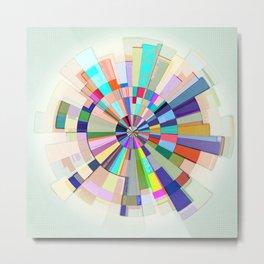Abstract Color Wheel Metal Print