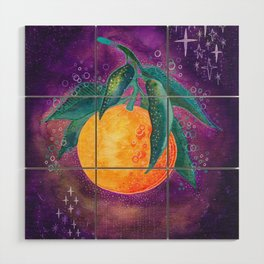 Cosmic orange Wood Wall Art