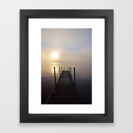 Soft Sunrise on a Misty Adirondack Morning Framed Art Print